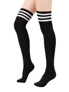 Unisex Half USA Half Spain Flag Knee High Compression Thigh High Socks Tube Socks