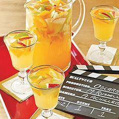 Sparkling White Sangria Recipe Beverages, Cocktails with granny smith apples, red apples, orange, lemon, dry white wine, triple sec, fresh orange juice, club soda