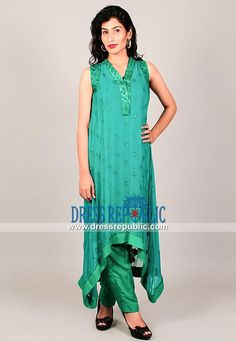 Designer Asian Outfits Online in Light Sea Green