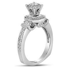 Etsy NissoniJewelry presents - Ladies Diamond Engagement Ring in 14K White Gold with 1.10CT Diamonds    Model Number:UB7140W/SH    https://www.etsy.com/ru/listing/275611030/ladies-diamond-engagement-ring-in-14k