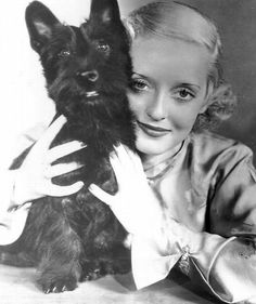 Bette Davis & her Scottie has Bette Davis eyes !!! :-)