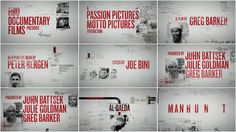 Manhunt: The Search for Bin Laden  title design - motion graphics - art of the title