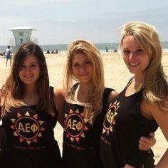 Alpha Epsilon Phi beaching #AlphaEpsilonPhi #AEPhi #beach #sorority