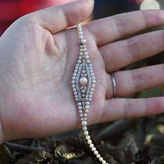 A dainty Edwardian pearl bracelet. Such understated elegance. #dandelionantiques #edwardian #edwardianjewelry #belleepoque #pearl #bracelet #jewellery #jewelry #antiquejewelry #platinum #pearlbracelet #pearljewelry #daintyjewelry