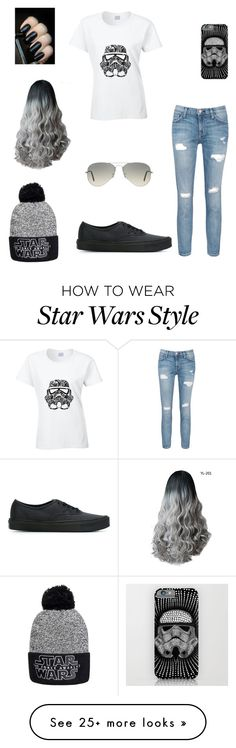 """Star Wars"" by shayla22 on Polyvore featuring Ray-Ban, Current/Elliott and Vans"