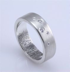 LOVE this idea! I want to do this! Put my husband's thumb print on my ring, or vice versa. (Or both!)