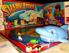 Trending in my shop today⚡️ Vintage SHARK ATTACK Board Game, 1988 - The Motorized Race and Chase Game by Milton Bradley.  Good Used Vintage Condition.  Great Fun! https://www.etsy.com/listing/513359645/vintage-shark-attack-board-game-1988-the?utm_campaign=crowdfire&utm_content=crowdfire&utm_medium=social&utm_source=pinterest