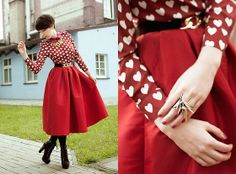 WINE RED HEART - Justyna Polska