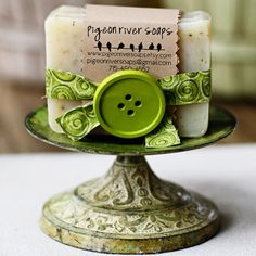 Sage & Lemongrass Handmade Soap  Cold Process by pigeonriversoaps, $6.00