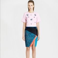 Three Floor Pioneer Skirt sz small NWT Sequin mesh and velvet mixed media skirt! AMAZING Three Floor Skirts Mini