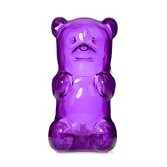 Purple Gummy Bear Lamp ($36) ❤ liked on Polyvore featuring home, lighting, lamps, flamingo lights, flamingo lamp, purple lamp and purple lights