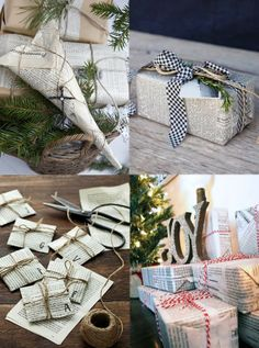 DIY: Newspaper Christmas gift wrapping
