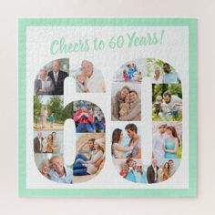 Custom Photo Jigsaw Puzzle | Zazzle.com 60th Birthday Cards, Birthday Photos, Photo Jigsaw Puzzle, Jigsaw Puzzles, Custom Gift Boxes, Customized Gifts, Personalised Jigsaw Puzzle, Happy Birthday For Her, Make Your Own Puzzle