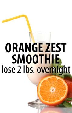 Want to get ready for swimsuit season? Dr Oz has an Orange Zest Smoothie recipe as part of a shrink drink diet program to help you lose 2 pounds overnight. Juice Smoothie, Smoothie Drinks, Detox Drinks, Healthy Smoothies, Healthy Drinks, Healthy Tips, Smoothie Recipes, Diet Recipes, Healthy Recipes