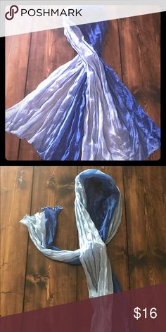 Ombre scarf Beautiful shades of blue Ombré scarf Accessories Scarves & Wraps