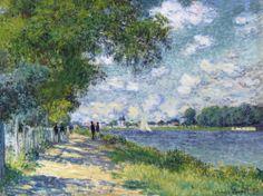 CLAUDE MONET 1840 - 1926.  1840 - 1926. LA SEINE A ARGENTEUIL. signed Claude Monet and dated 75 (lower right) oil on canvas(Est  7-10 mln GBR  Sothebys London    23june2014)  SOLD 8,538,500 GBP