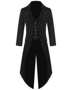 Banned Mens Steampunk Tailcoat Jacket Black Gothic VTG Victorian Coat #Banned #OtherJackets