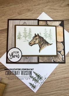 stampin up let it ride Joy Fold Card, Fun Fold Cards, Folded Cards, Stampin Up Karten, Westerns, Horse Cards, Scrapbooking, Just For You, Let It Be