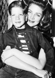 Lauren Bacall and her son, Stephen Bogart.