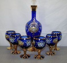 beautiful cobalt blue | ... Cobalt-Blue-Italian-Glass-Wine-Decanter-and-Glasses-Set-Very-Beautiful