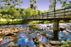 The Stream by Graves Mountain Lodge -  This little footbridge spans over the stream by Graves Mountain Lodge in Virginia.