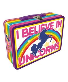 Look what I found on #zulily! 'I Believe In Unicorns' Collectible Tin Box #zulilyfinds