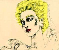 Donna Jordan, années 70 http://www.vogue.fr/culture/a-voir/diaporama/les-mondes-merveilleux-d-antonio-lopez/9576/image/570137#donna-jordan-annees-70