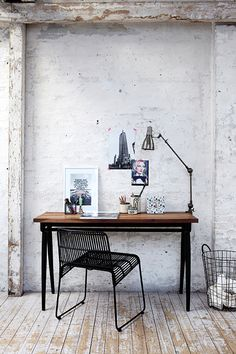 Rustic work Spaces . . . Home House Interior Decorating Design Dwell Furniture Decor Fashion Antique Vintage Modern Contemporary Art Loft Real Estate NYC London Paris Architecture Furniture Inspiration New York YYC YYCRE Calgary Eames StreetArt Building Branding Identity Style Hipster Fashion