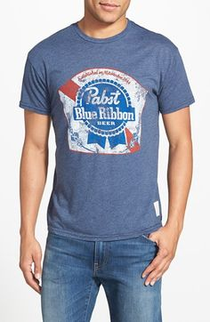 a138d06e Retro Brand 'Pabst Blue Ribbon' Graphic T-Shirt available at #Nordstrom  Pabst
