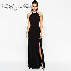 Haoyouduo Women's Sexy Backless Evening Party Maxi Dress - EUR € 24.15