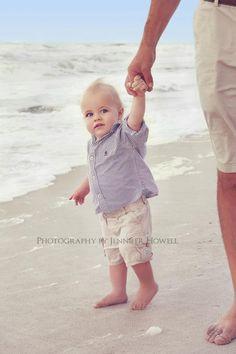Sweet one year old boy!!!  Beach shoot www.jenniferhowellphotos.com