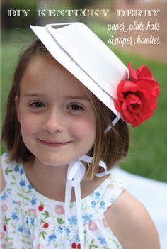 Kentucky Derby Ideas for Kids: DIY Paper Derby Hats #Derby #KentuckyDerby