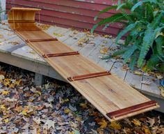 Toboggan Sled Traditional Handmade Winter Fun From Maine Brighton Woodshop 8…