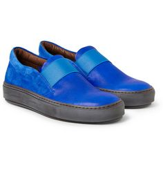 Acne Studios Electric Blue Slip Ons