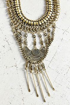 Golden Chime Statement Necklace