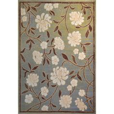 """Home Dynamix Optimum Collection Contemporary Blue Area Rug (7'8X10'4) (Blue-Green Transitional 7'8"""" X 10'4"""" Area Rug), Size 8' x 10' (Olefin, Floral)"""