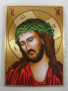 https://flic.kr/p/7TCLWr | Hand Painted on wood Romanian Orthodox Icon -- Jesus Christ Icon | www.traditional-from-romania.ro