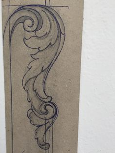 Design for wood - Wood Carving Designs Wood Carving Designs, Wood Carving Patterns, Leaf Patterns, Leather Carving, Leather Art, Molduras Vintage, Filigree Tattoo, Ornament Drawing, Metal Engraving