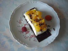 DESSERT Millefeuille chocolat à la menthe et sa mousse de marscarpone aux framboises