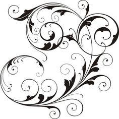 Vine tattoo Flourish Scrolls
