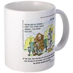 #Aqualung My Ex-Friend #Funny #Mug by @LTCartoons #humor #jethrotull #parody @cafepress #sale #coffee @pinterest #gift #music