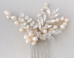 Florence Bridal Hair Comb Wedding Hair Comb Pearl от EllaWinston Bridal Hair Up, Hair Comb Wedding, Headpiece Wedding, Hair Beads, Wedding Hair Accessories, Bridal Headpieces, Tiaras, Pearl Hair, Ivory Pearl