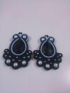 Soutache earrings  Black model @celedireefare