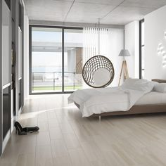 Wood Effect Floor Tiles In A Subtle Cream Shade White Bedroom Furniture Ideas Black And Designs Ceramic Tile Painting Walls - Knowhunger