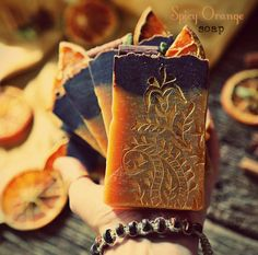 Spicy Orange Organic Soap. Vegan. All natural. by Herbolution