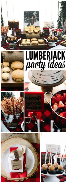 Check out this lumberjacks and flapjacks brunch birthday! See more party ideas at CatchMyParty.com!