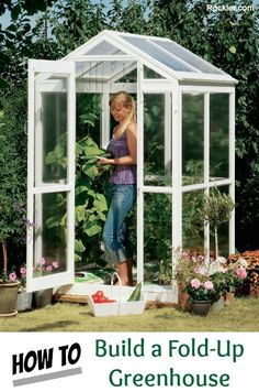 How to make the small greenhouse? There are some tempting seven basic steps to make the small greenhouse to beautify your garden. Diy Greenhouse Plans, Large Greenhouse, Greenhouse Effect, Backyard Greenhouse, Greenhouse Growing, Greenhouse Wedding, Greenhouse Plants, Miniature Greenhouse, Window Greenhouse