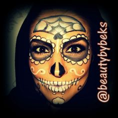 Sugar Skull. Halloween makeup