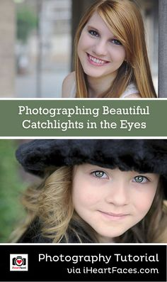Photographing Beautiful Catchlights in the Eyes - Photography Tutorial by Dana Suggs for iHeartFaces.com