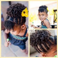 Cornrows into puff - try on baby girl?